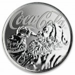 Fiji COCA-COLA SANTA CLAUS $1 Silver Coin 2019 Proof 1 oz