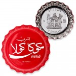 Fiji COCA-COLA EGYPT LOGO $1 Silver Coin 2020 Bottle Cap Shaped Proof