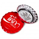 Fiji COCA-COLA THAILAND LOGO $1 Silver Coin 2020 Bottle Cap Shaped Proof