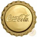 Fiji COCA-COLA $50 Gold Coin 2018 Bottle Cap Shaped Proof 1 oz
