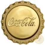 Fiji COCA-COLA $25 Gold Coin 2018 Bottle Cap Shaped Proof