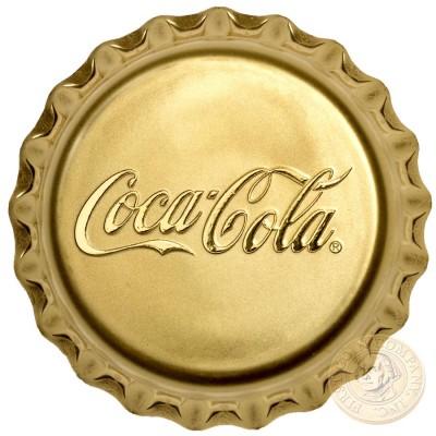 Fiji COCA-COLA $50 Gold Coin 2018 Bottle Cap Shaped Proof 1 oz