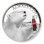 Fiji COCA-COLA POLAR BEAR $2 Silver Coin 2019 Proof 1 oz