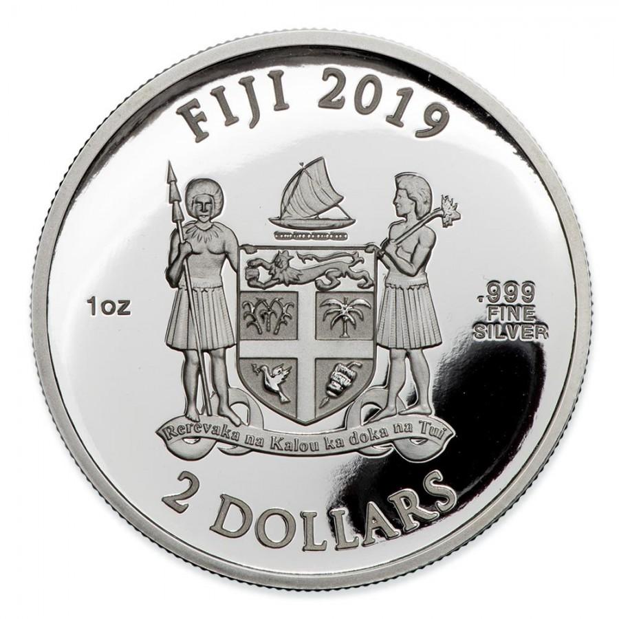 Fiji COCA-COLA POLAR BEAR $2 Silver Coin 2019 Proof 1 oz