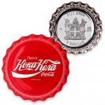 Fiji COCA-COLA RUSSIA LOGO $1 Silver Coin 2020 Bottle Cap Shaped Proof