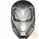 Fiji IRON-MAN 3D MASK MARVEL COMICS series SUPERHEROES MASKS Silver coin $5 Antique finish 2019 Concave shaped 2 oz
