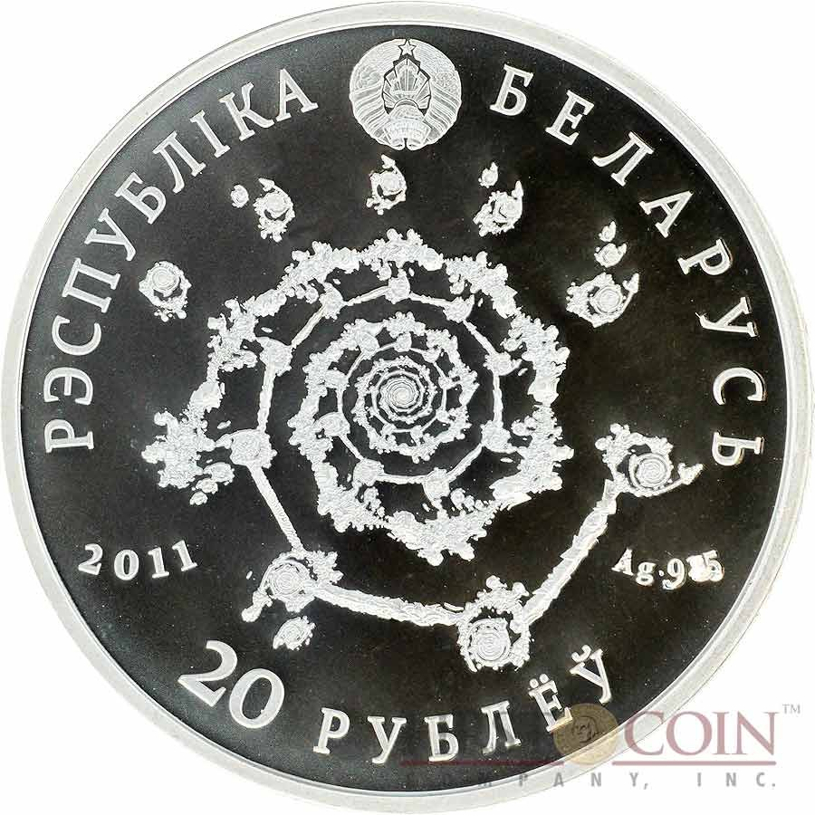 Belarus ARABIC DANCE 20 Roubles Magic of the Dance series High Relief Colored Silver Coin 2011 Reverse Proof