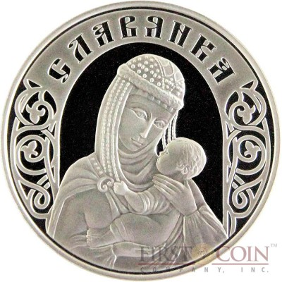 Belarus SLAVYANKA 20 Roubles Silver Coin 2010 Proof 1 oz