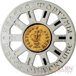 Niue Island WHEEL OF FORTUNE AUREUS COIN $1 Silver Coin Gold plated 2014 Proof