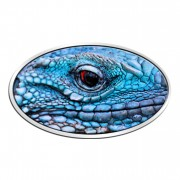 Niue Island BLUE IGUANA series ANIMAL SKIN $2 3D Eye 2012 Silver Coin High relief Antique finish 1 oz