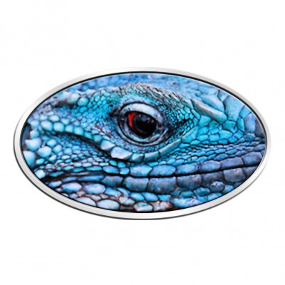 Niue Island BLUE IGUANA series ANIMAL SKIN $2 3D Eye 2012 Silver Coin High relief Antique finish 1 oz