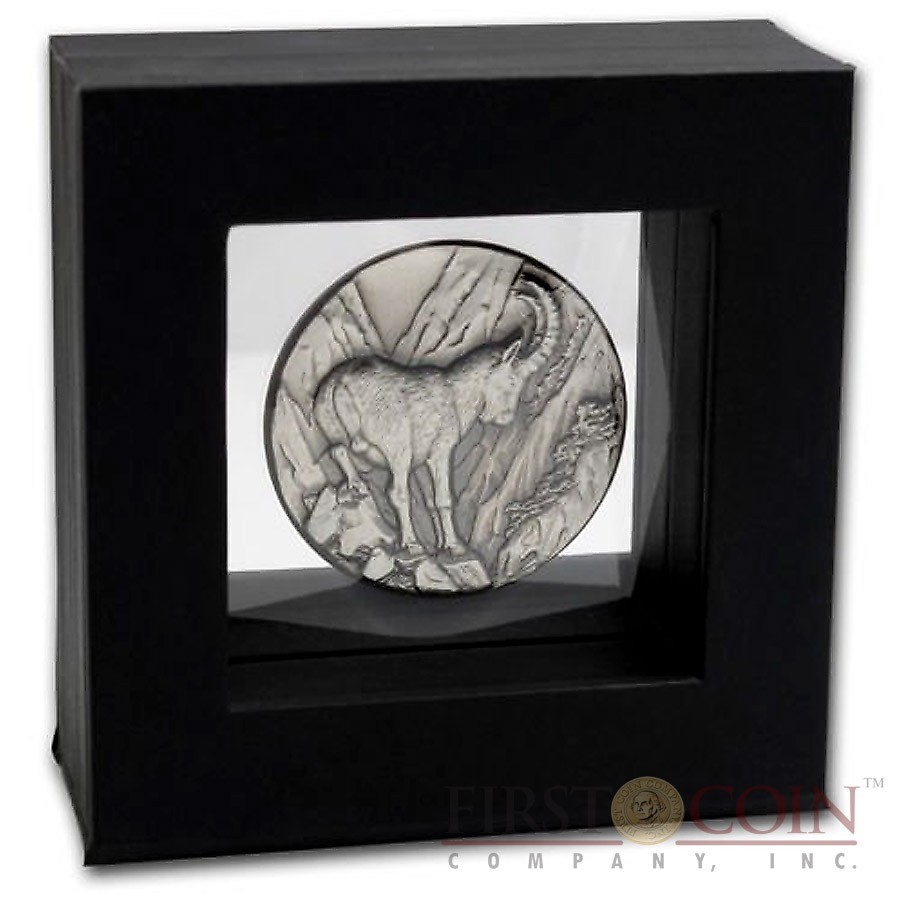 Ultra High Relief Capercaillie 2014 Niue .999 Fine Silver Antique Finish
