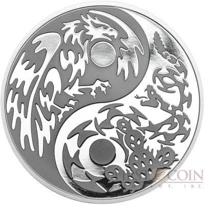Cook Islands EAGLE vs SNAKE series PREDATOR PREY $5 Silver Coin Black palladium plated 2016 Proof 1 oz