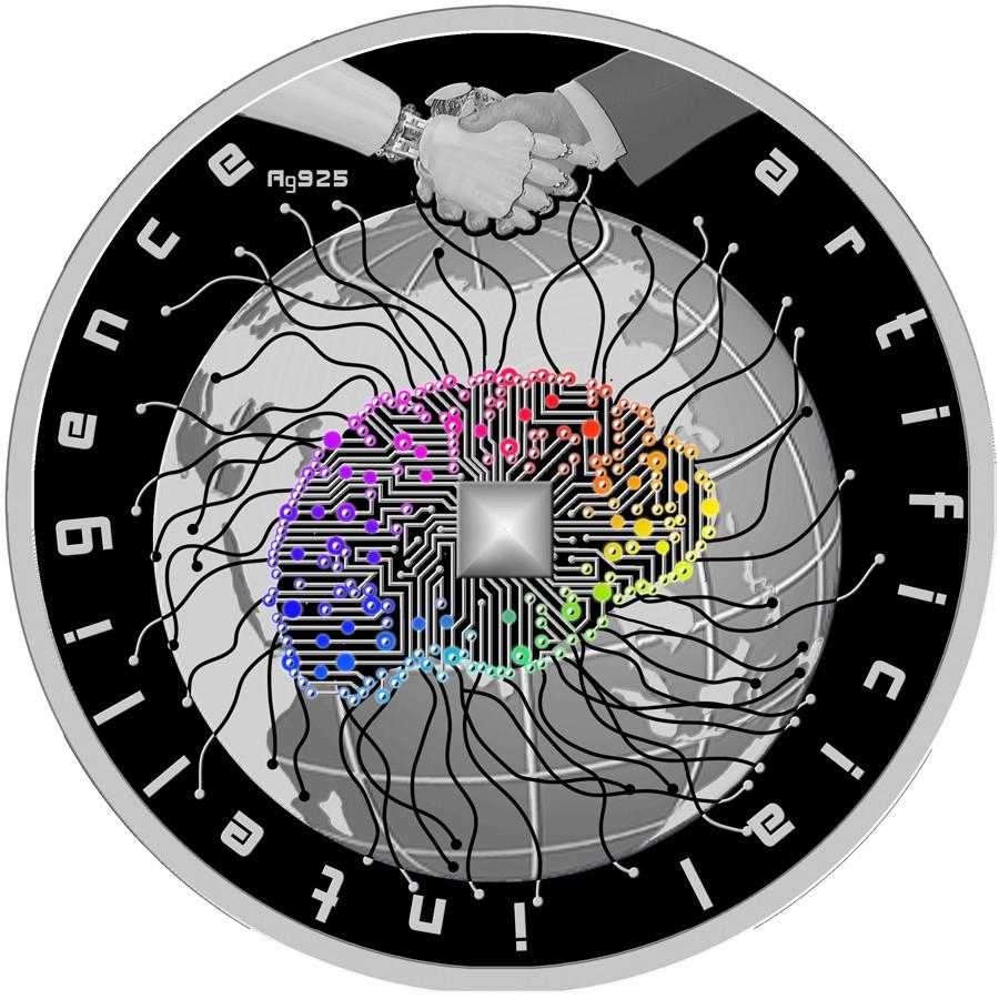 Macedonia ARTIFICIAL INTELLIGENCE 100 Denars Silver Coin Proof 2019