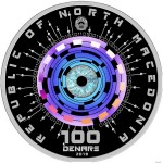 Macedonia ARTIFICIAL INTELLIGENCE 100 Denars Silver Coin Proof 2019