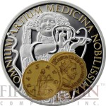 Niue Island SALUS $1 Aureus series Gold Printing Silver Coin 2015 Proof