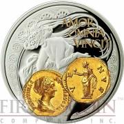 Niue Island VENUS AMOR $1 Aureus series Gold Printing Silver Coin 2014 Proof