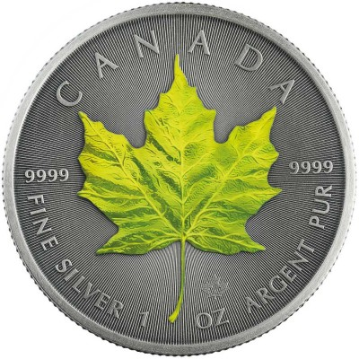 Canada SPRING - FOUR SEASONS Canadian Maple Leaf $5 Silver Coin 2020 Antique finish 1 oz