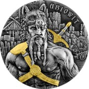 Germania ARIOWIT GERMANIAN LEADER series THE WARRIORS 10 Mark Silver Coin High Relief Antique finish 2020 Gold plated 2 oz