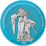 Germania SPACE BLUE 5 Mark 2019 Silver Coin 1 oz