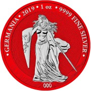 Germania SPACE RED series SPACE EDITION 5 Mark 2019 Silver Coin 1 oz