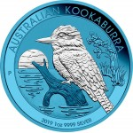 Australia AUSTRALIAN KOOKABURRA SPACE BLUE series SPACE EDITION $1 Dollar Silver Coin 2019 Galvanic plated 1 oz