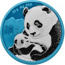 China CHINESE PANDA Series SPACE BLUE ¥10 Yuan Silver coin 2019 Galvanic plated 30 grams