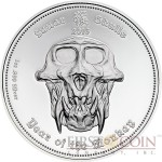 Republic of Palau YEAR OF THE MONKEY Series LUNAR SKULLS 2016 $5 Silver Coin PROOF 1 oz