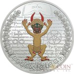 Equatorial Guinea CODEX GIGAS THE DARK SIDE 1000 Francs CFA Silver coin 2016 Proof 1 oz