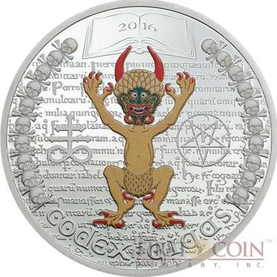 Equatorial Guinea CODEX GIGAS THE DARK SIDE 1000 Francs CFA Silver coin 2016 Proof 1 oz