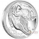 Tuvalu T-REX TYRANNOSAURUS REX series DINOSAURS $5 Silver Coin 2017 Proof 5 oz