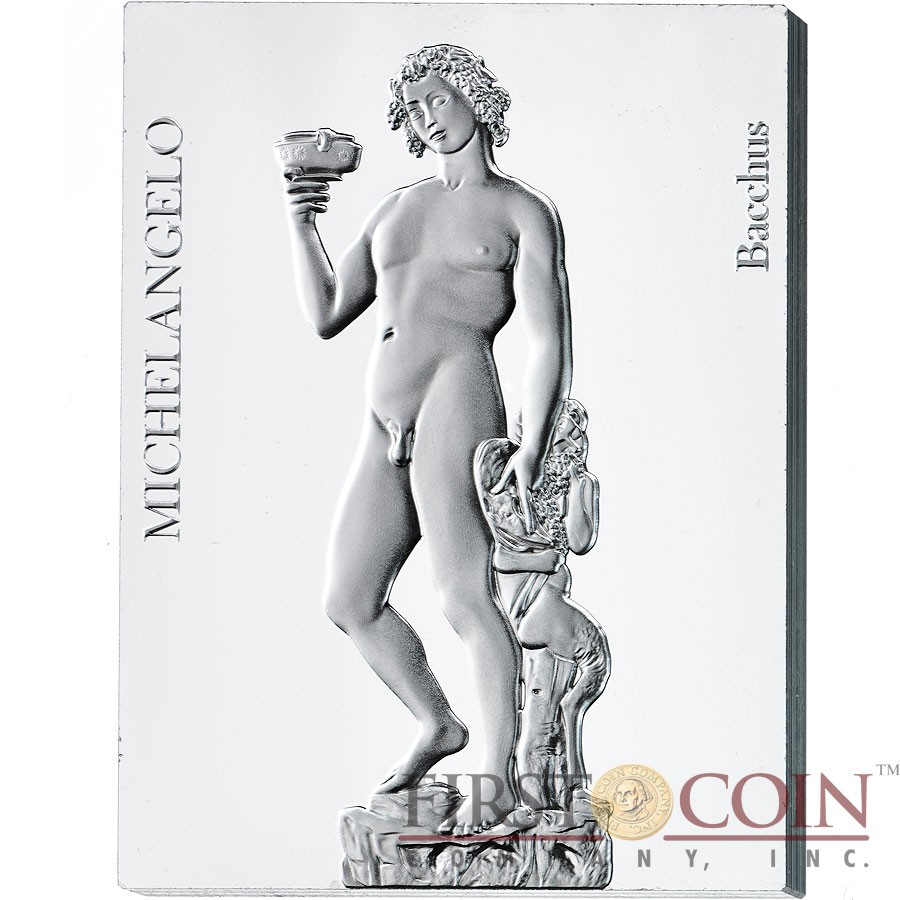 Niue Island MICHELANGELO BUONARROTI SCULPTURES COLLECTION 450th Anniversary Of The Death 2014 Seven Silver Coin Set $70 Edgeless Proof 14oz