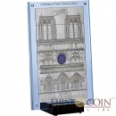 Niue Island CATHEDRAL NOTRE-DAME DE PARIS Silver Fifteen Coin Set $140 Illuminated Glass Inlay 2014 Edgeless minted 1 Kilo / Kg