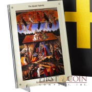 Niue Island SANDRO BOTTICELLI THE MYSTIC NATIVITY 2013 The Bible Series 15 Silver coin set $15 Rimless colored 16 oz / 0.5 Kilo