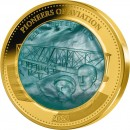 Solomon Islands PIONEERS OF AVIATION 1903 WRIGHT BROTHERS series DISCOVERY $100 Gold Coin 2021 Mother of Pearl Proof 5 oz