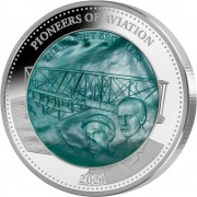 Solomon Islands PIONEERS OF AVIATION 1903 WRIGHT BROTHERS series DISCOVERY $25 Silver Coin 2021 Mother of Pearl Proof 5 oz