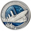 Solomon Islands REMEMBERING RMS TITANIC 35th Years WRECK DISCOVERY $10 Silver Coin 2021 Antique finish 3 oz