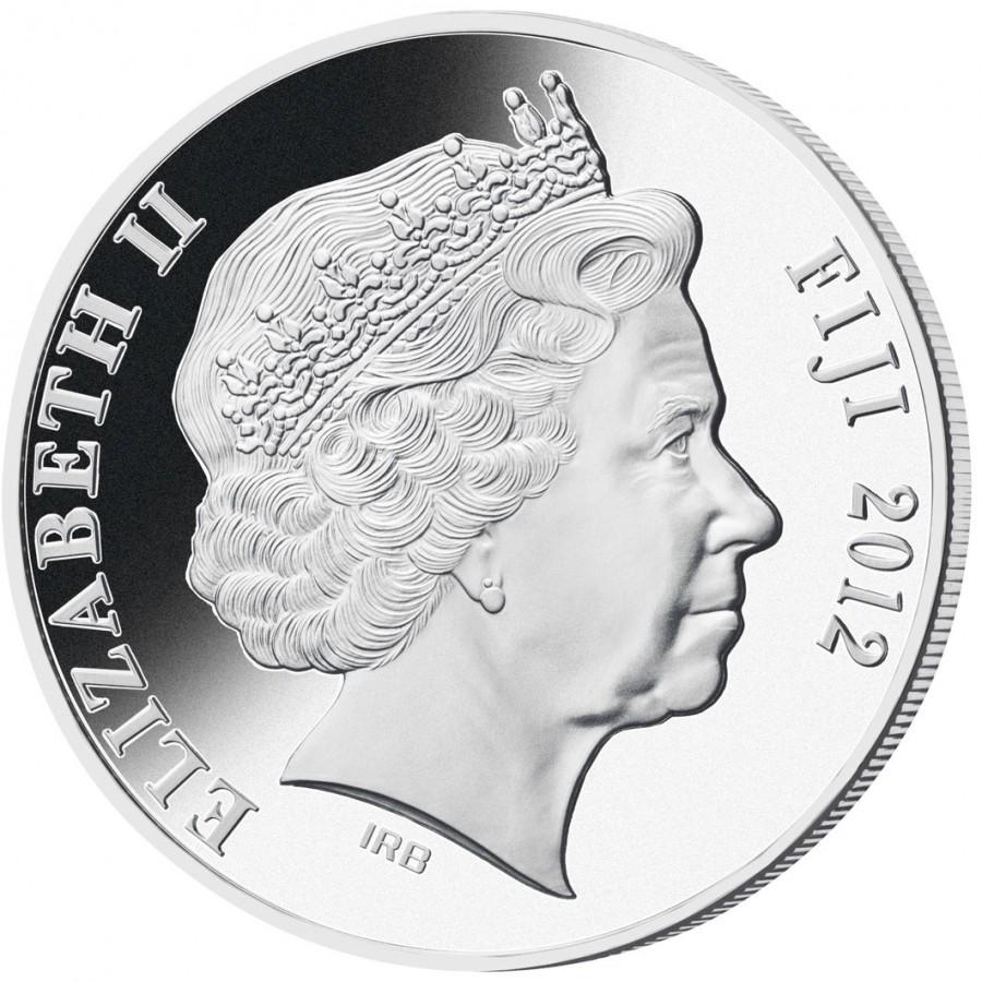 Togo 1000 Francs Lunar Calendar Year of the Dragon silver proof gilded 2012