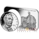 USA ABRAHAM LINCOLN 150th ANNIVERSARY Premium Set of $1 Silver coin 2009 & Silver bar Proof 4.3 oz