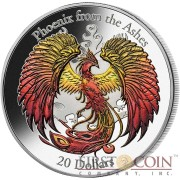 Cook Islands PHOENIX FROM THE ASHES $20 Silver Coin 2015 Multiple Color 3D High Relief 3 oz