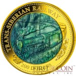 Cook Islands 100th Anniversary Trans-Siberian Railway $200 Mother of Pearl Transport Series 2016 Gold Coin 5 oz