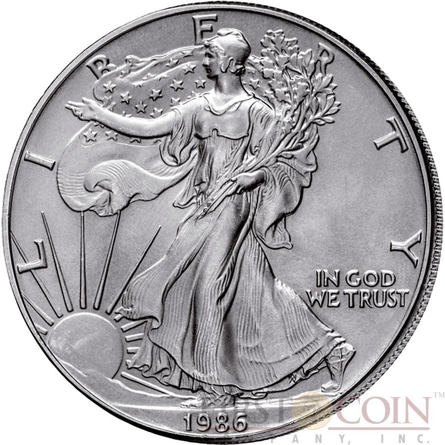 Usa 100th Anniversary Of Silver Walking Liberty American