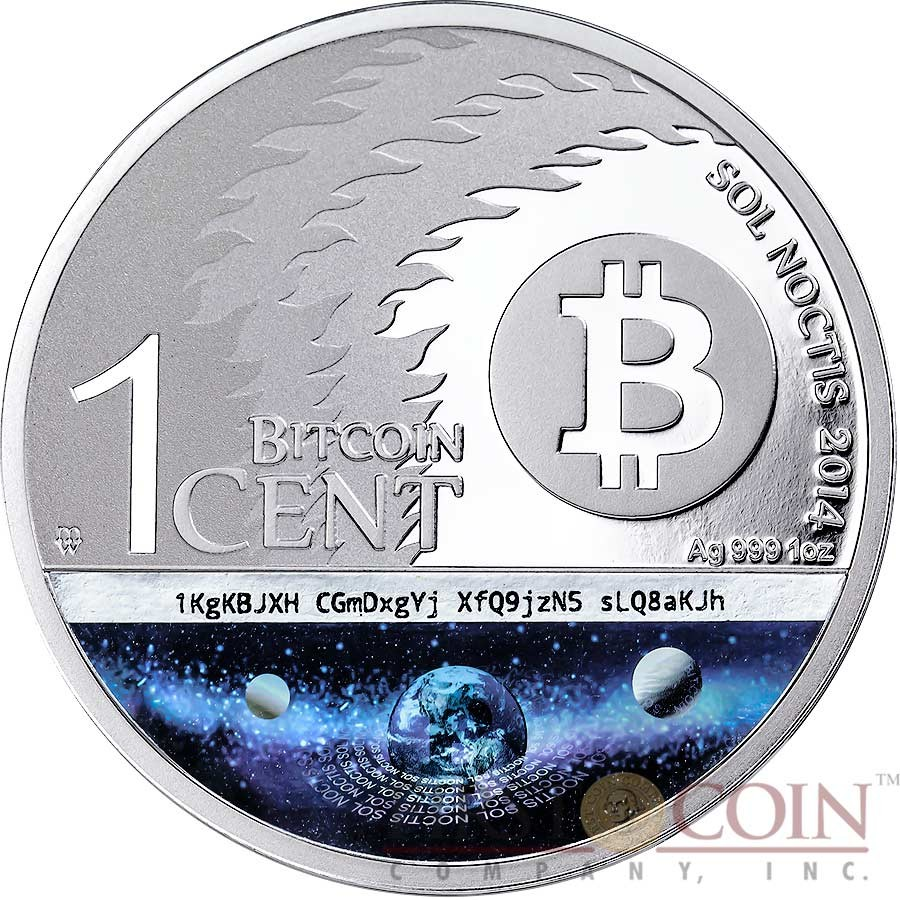 The Binary Eagle Sol Noctis 1 Cent Bitcoin Series Silver
