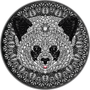 Niue Island PANDA series Mandala Collection $5 Silver Coin 2021 Antique finish 2 oz