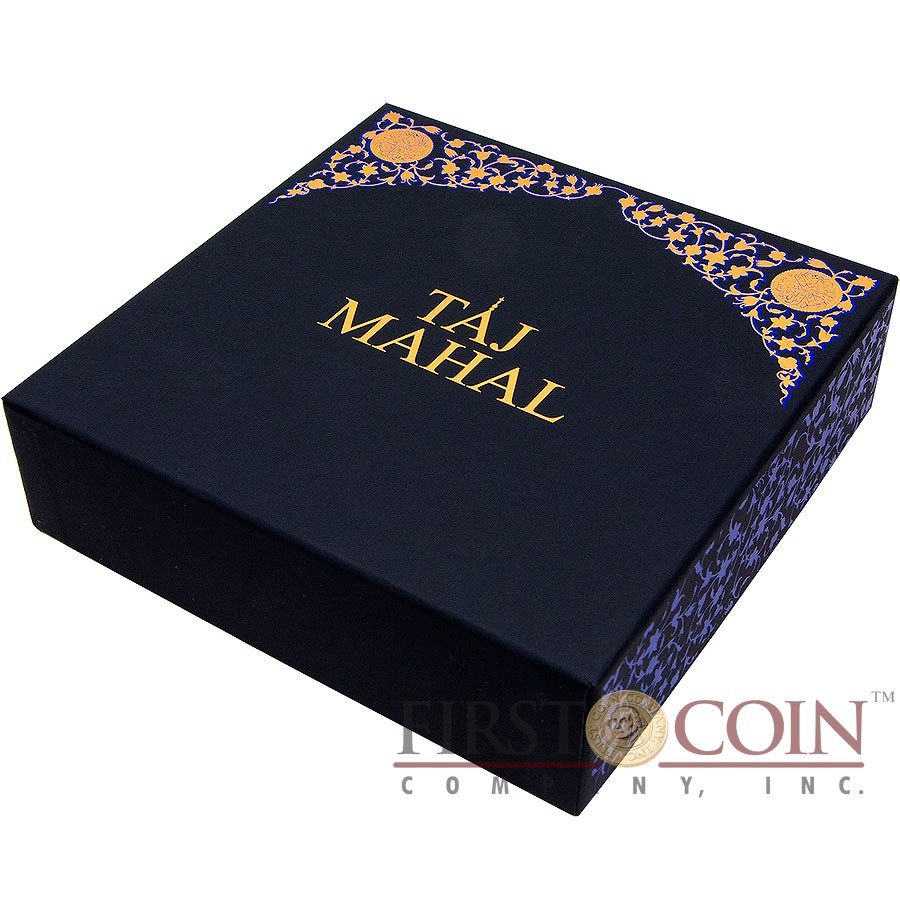 Fiji TAJ MAHAL series KILO MONUMENTS Silver coin $100 Antique finish 2014 High Relief Lapis lazuli inlay 1 Kilo / 32.15 oz