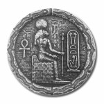 EGYPTIAN CAT GODDESS BASTET series RELIC Silver Coin-Bar 2020 Antique finish 1/2 oz