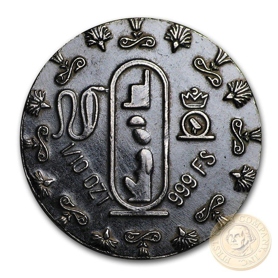 QUEEN NEFERTITI series RELIC Silver Coin-Bar 2020 Antique finish 1/10 oz