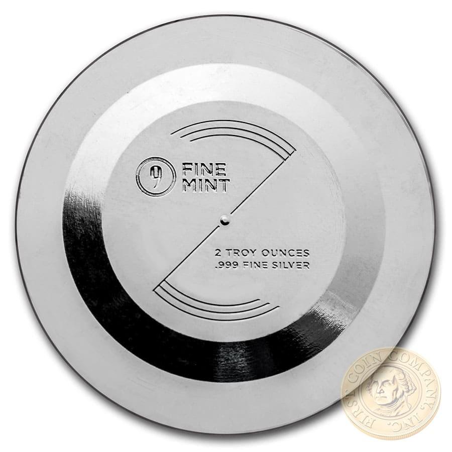 UFO ALIEN Silver Coin-Bar UFO Shaped 2020 Proof 2 oz