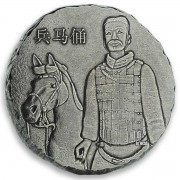 Fiji THE ARMY series TERRACOTTA WARRIORS $2 Silver coin 2019 Antique finish 5 oz