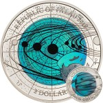 Republic of Palau URANUS series SOLAR SYSTEM NIOBIUM $2 Silver-Niobium Coin Proof 2018